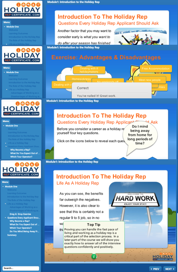 Module One - Holiday Rep Certificate
