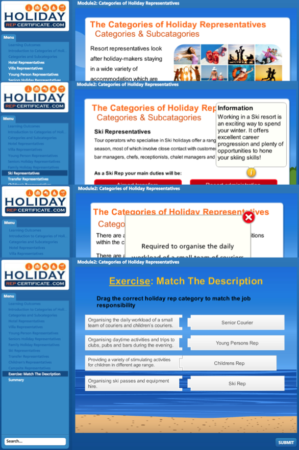 module two - holiday rep course